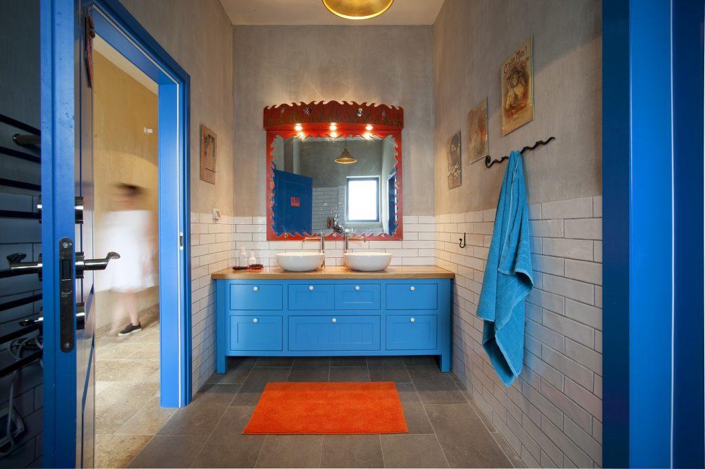 חדר רחצה בסגנון טוסקני