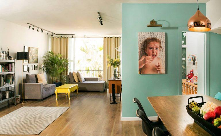 עיצוב פנים בסגנון חמים לדירת 4 חדרים בכפר סבא
